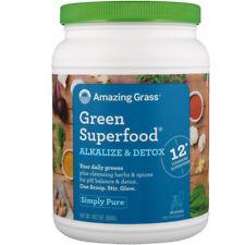 NEW AMAZING GRASS GREEN SUPER FOOD ALKALIZE & DETOX DIETARY SUPPLEMENT 800 g