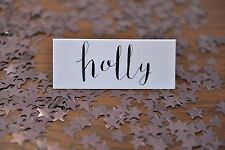 Pack of 5 Modern Calligraphy Hand Written Place Cards For Weddings and Events
