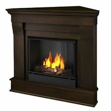 Real Flame Chateau Corner Ventless Gel Fireplace- Dark Walnut - 5950-DW NEW
