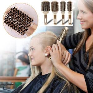 Four Size Nylon Bristle Thermal Ceramic Ionic Round Barrel Hair Brush UK