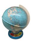"Vintage OHIO ART CO Made in USA Tin 9"" Student Globe with Landmarks on Base"