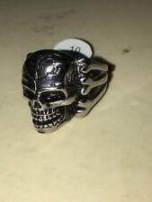 Skull And Bones Ring- Men's Or Women's-Size 10..... New