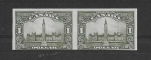 CANADA #159a IMPERFORATE PAIR MARGINS AT BOTTOM CLOSE IN SHALLOW THIN $700.00