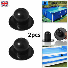 More details for 2pcs swimming inflatable pool filter pump strainer hole plug water stopper black