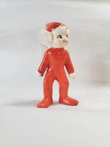 Vintage Red Pixie, Red Pixie Figurine, Japan, Collectible