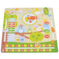 Calendario Orologio Giocattolo per Bambini Gufetti in Legno Giochi Educativi