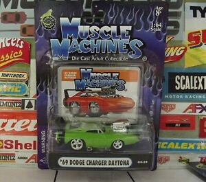 MUSCLE MACHINES 1:64 '69 DODGE CHARGER DAYTONA ... 04-59