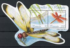 Vanuatu 2012 Gomma integra, non linguellato Libellule di Vanuatu Globe SKIMMER 2v M/S insetti FRANCOBOLLI