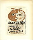 1959 Mini Poster Lithograph ORIG Print Pablo Picasso Art Exposition Vallauris 3