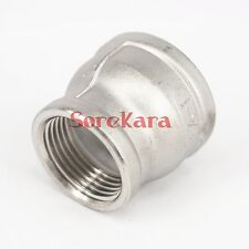 """1-1/2"""" BSP to 2"""" BSP Female 304 SS Concentric Reducer Connector Pipe Fitting"""