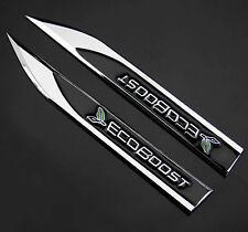 2pcs Auto Car Metal Knife Badge Emblem Decal Sticker For Black Ecoboost hot
