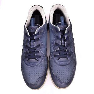 Ecco Women Sz 39 EU 8/8.5 US Blue Nubuck Leather Sneakers Walking Comfort Shoes