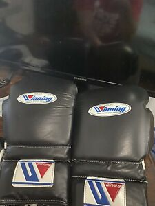 Winning Boxing Gloves Lace up 16oz Black From Japan