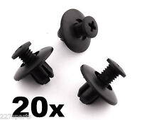 20x Honda Plastic Trim Clips, 8mm for Wheel Arch Linings, Cowl & Other Trims