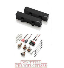 EMG J SET BLACK JAZZ BASS PICKUPS ( FREE WORLDWIDE SHIPPING ) Fits Fender Basses