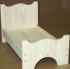 "wooden doll bed good for american doll 19"" on the inside pine wood HAND MADE"