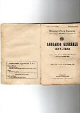 touring club italiano - annuario generale 1925 - 1926 -