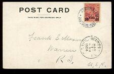 Alemania Levant Imperio Otomano Jerusalem Post Office 20para 1904 PPC a Estados Unidos