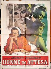 Eva Dahlbeck Ingmar Bergman DONNE IN ATTESA manifesto 2F originale anni '70