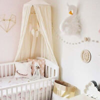 Elegant Lace Swan Design Wall Haning Ornament for Kids Room Wall Decor White
