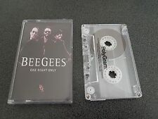 RARE BEEGEES ONE NIGHT ONLY CASSETTE TAPE INDONESIA BEE GEES EX COND