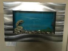 ORIGINAL AUSSIE AQUARIUM - SKYLINE BRUSHED ALUMINUM WALL MOUNTED FISH TANK