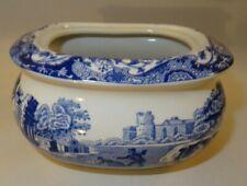 Spode Italian Design Blue & White Lidded Sugar Bowl Or Box
