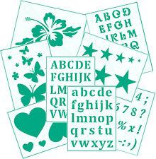 Wand/Mal/Textil/Stencils Schablonen ● verschiedende Motive Buchstaben Zahlen
