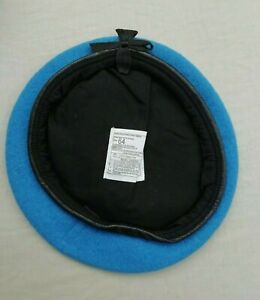 UN UNITED NATIONS LIGHT BLUE WOOL BERET, Large Sizes British Army Issue