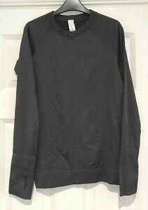 Lululemon, Black, Long Sleeved, Fitted, Textured Top, US 4 (UK8)