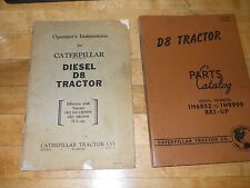 Caterpillar D8 Tractor Parts Catalog & Operator's Manual