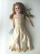 """Armand Marseille 17"""" Bisque Doll Glass Eye Hair Leather Body Germany 3200 Am2Dep"""