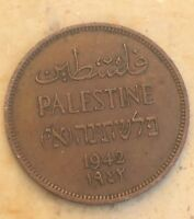 1942 Palestine One (1) Mil Coin