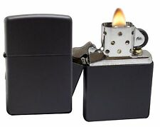 Zippo Lighter 218 Black Matte Windproof Classic Theme NEW