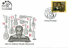 Hungary 2017 FDC Claudio Monteverdi 450th Bday 1v Cover Music Composers Stamps