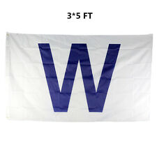 "Hot Sale Chicago Cubs ""W"" Mlb Banner Flag 3' x 5' Win Fan Baseball Team Decor"