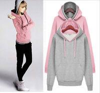 Women Autumn Winter Beauty Sweatshirt Casual Hoodies Long Sleeve Sport Tops