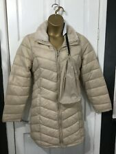 STYLED BY.. long coat puffer style stone colour faux fur collar sz 18 new tags