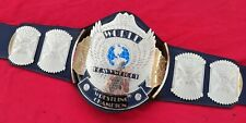 Wwf Winged Eagle Wing Replica Belt In Thick Brass & Floppy Leather Strap
