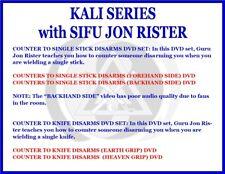 Kali Single Stick & Knife Disarms (4) Dvd Set filipino martial arts escrima