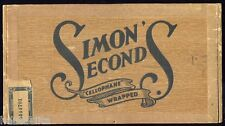 Simons Seconds Wood Cigar Box Montreal Quebec Canada 1918 -20c Scarce French