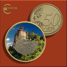 50 Cent Kursmünze San Marino, untersch. Jahrgänge, coloriert, Vers. 1