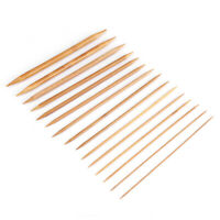 15Pcs/Set Bamboo Knitting Needles  Double Pointed 2-10mm 5 Pieces/Size New
