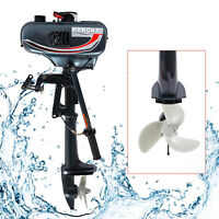 3.5HP Outboard Motor 2Stroke Fishing Boat Engine w/Water Cooling Tiller Shaft US