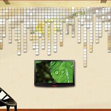 100pcs 2cm Square Mirror Wall Sticker Art Decal Decoration DIY Cute Patterns