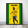 Ronaldinho in Brazil Football Gift Framed Cartoon Poster