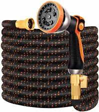 New listing Double Couple Garden Hose Flexible Car Wash Water Hose Spray Nozzle 3750D, 50 ft