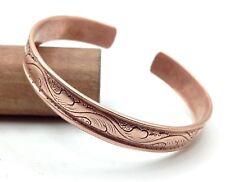 100% Pure Copper Hand Carved Tibetan Healing Bracelet. Unisex, Hand Made High Ga