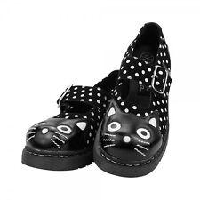 T.U.K. Shoes Black Polka Dot Anarchic Cat Mary Janes