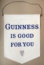 Guinness Vinyl Sign , Pennant , Banner , rare , vintage , pub , Breweriana.
